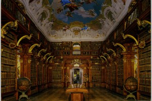 Library at Melk Abbey http://musicarchive.sdsmt.edu/travel/images/Melk/Library.JPG