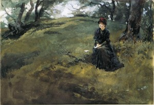 "Edwin Austin Abbey's ""Young Woman in the Woods"""