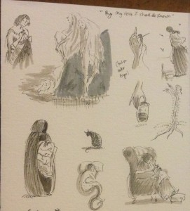 Sketches by Kathleen Jennings for By My Voice I Shall Be Known